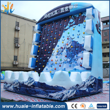 Snow mountain inflatable rock climbing sport game,inflatable climbing wall