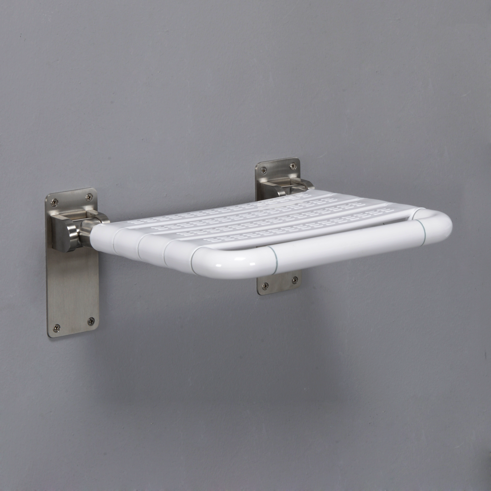 Wall mounted bathroom fold-up shower seat foldable