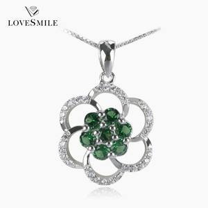 Factory direct sale wholesale anniversary gold plated jewelry gemstone pendant 925 sterling silver