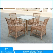 Factory Directly Outdoor Furniture Rattan Dinning Table Mexico