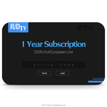 IPTV Albanian UK Italy IUDTV Subscription 1 Year with 24 Hours Free Test Code IUDTV