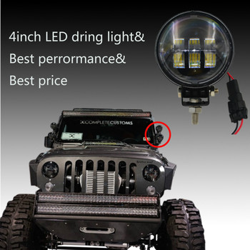 For Jeep Wrangler Jk Accessories 4 Inch 30W Working Light Driving Light
