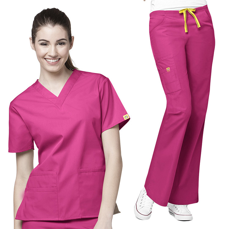 Customized Embroidery Logo Printing Uniform/Fashionable Nurse Uniform Design/ Medical Nurse Scrubs for Men/Women