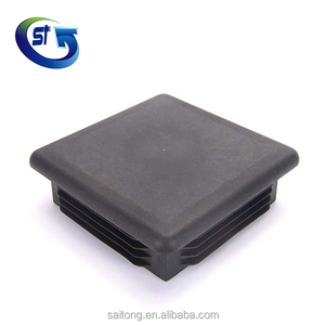 Black PP Plastic square End Caps for metal fencing PFC-100X100