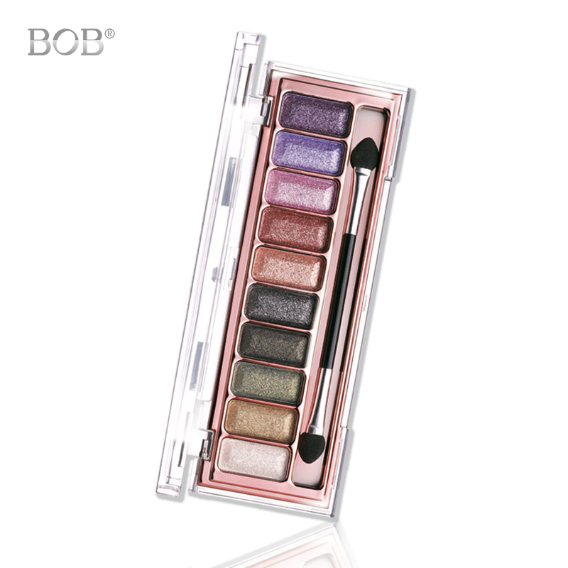 BOB Cosmetics 10 Colors Glitter Eyeshadow