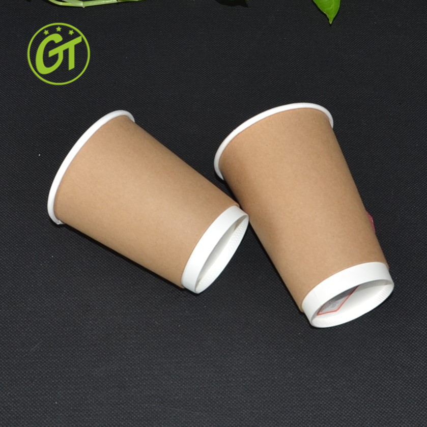 Coffee Paper Cup Scald Prevention Paper Cup Double Wall Cappuccino Cup