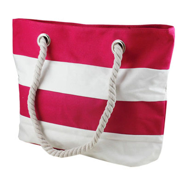 Promotional Beach Bags Straw Stripe Canvas Beach Tote Bag ...