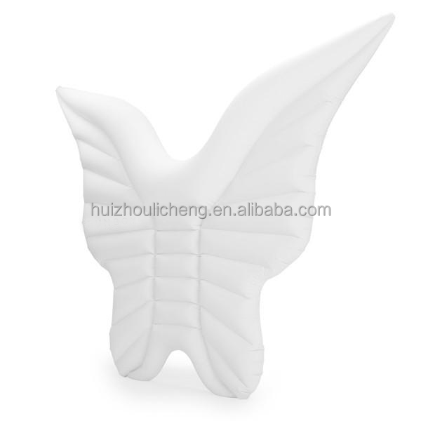 Giant Adult use Plastic PVC inflatable Wings Swimming Pool Water Float Raft