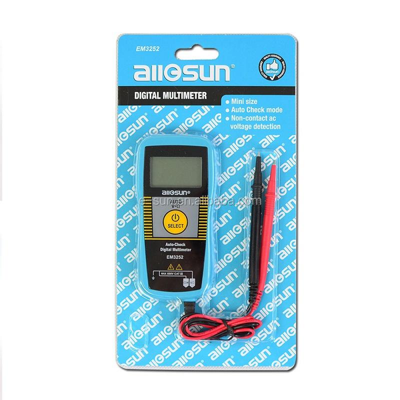 All-Sun EM3252 Auto Ranging Pocket Multimeter Digital Voltmeter Resistance Frequency Capacitance Continuity 7-Modes Tester