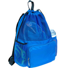 OEM custom large swimming waterproof mesh gym drawstring backpack bag