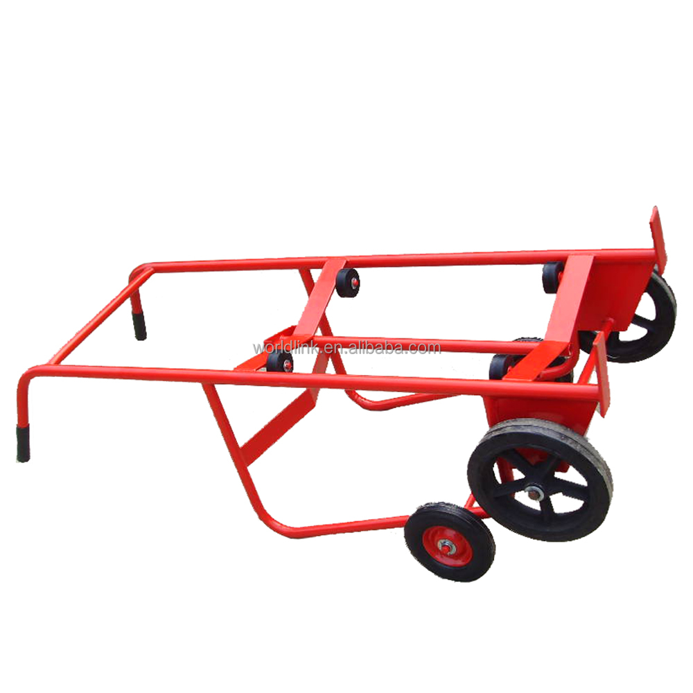 Red Transport Tool Oil Drum Cart
