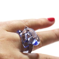 Customized handmade fashionable lucite rings, high quality knot ring and statement acrylic jewelry