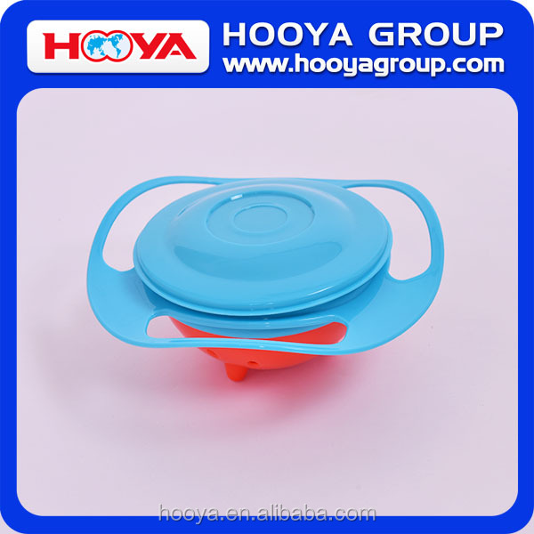 spill resistant and less mess universal gyro bowl with lid for children