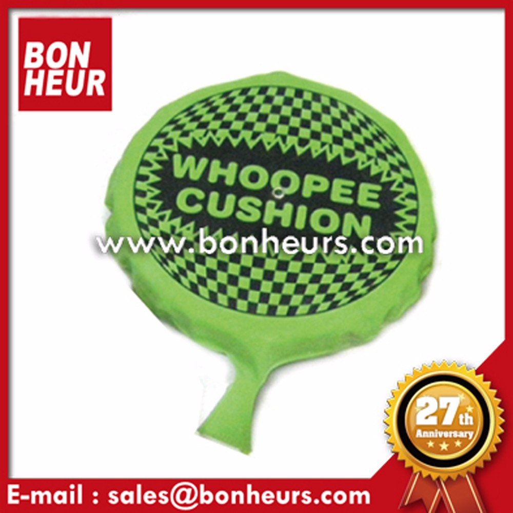 Novelty Toys Party Favors FART POO Toy Green Whoopee Cushion