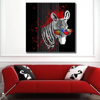Moderne Toile Zèbre Encre Peinture Murale Pour Salon Maison Décoratif D Art En Gros Buy Peinture Zèbre Peinture Abstraite Art Mural Product On
