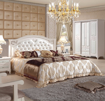 Latest Cream Color Soft Headboard Wedding Bedroom Set - Buy ...