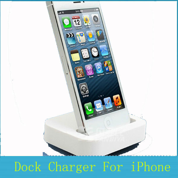 with retail box dock station charger for iphone 5 5s 5c 5g socle charger base dock for iphone. Black Bedroom Furniture Sets. Home Design Ideas