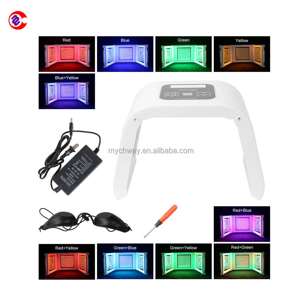 New version high quality skin care skin rejuvenation PDT led light therapy mask photon led10 colors