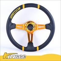 RACE PVC 350mm DRIFTING CAR STEERING WHEEL (UNIVERSAL)