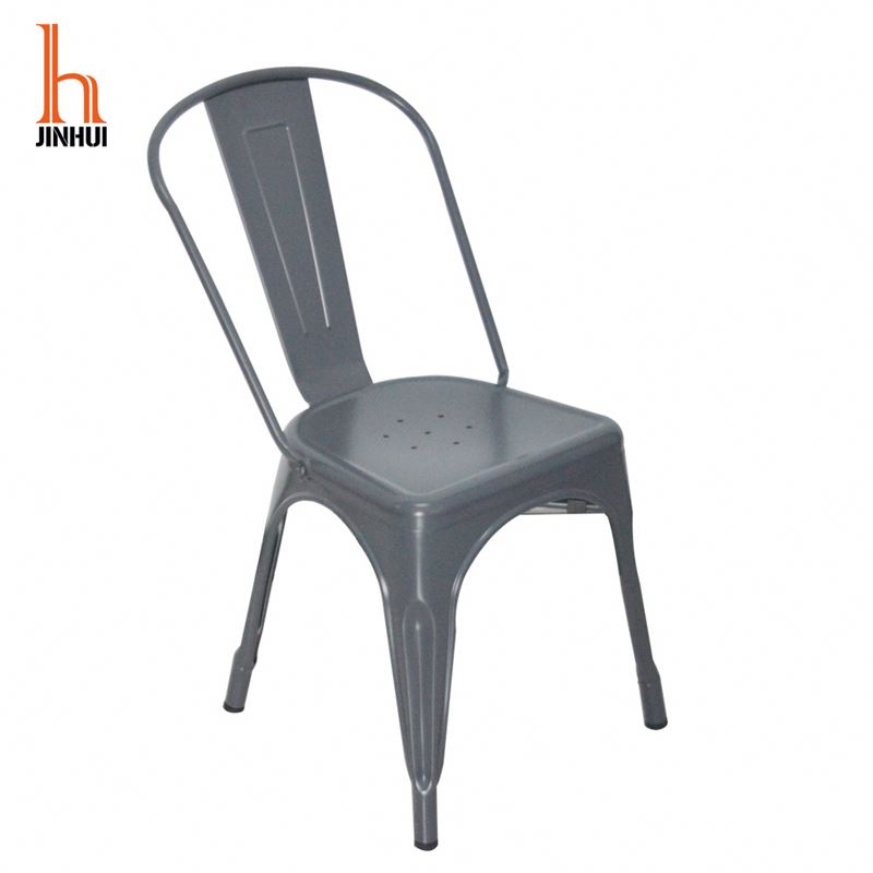 Industrial Cafe Bar Dining Chair Furniture Metal French Bistro