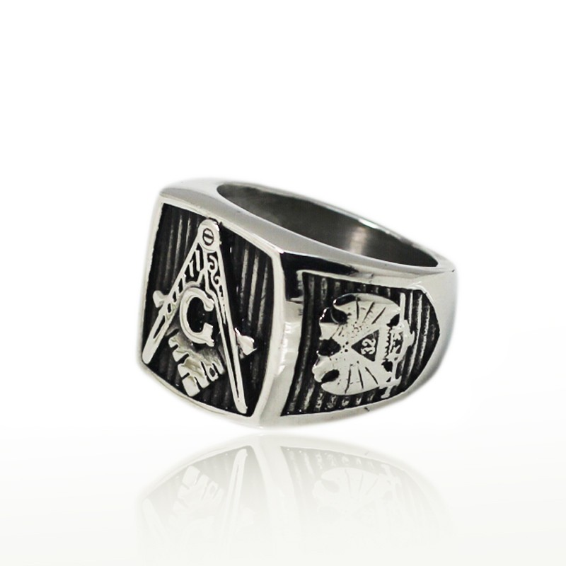 Daihe stainless steel cheap masonic rings