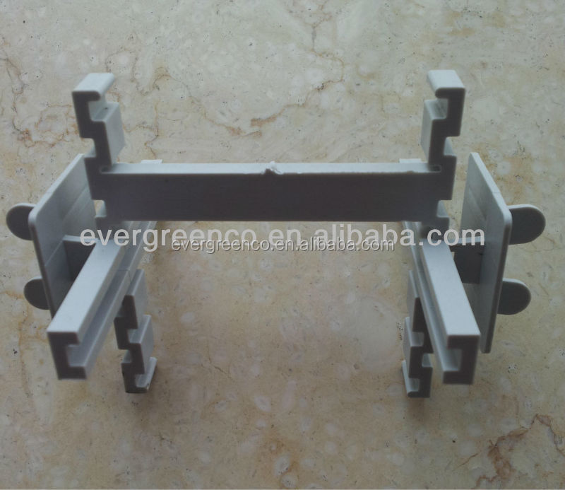 construction used plastic spacers for glass block