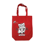 Red cotton bag canvas tote bag with custom logo