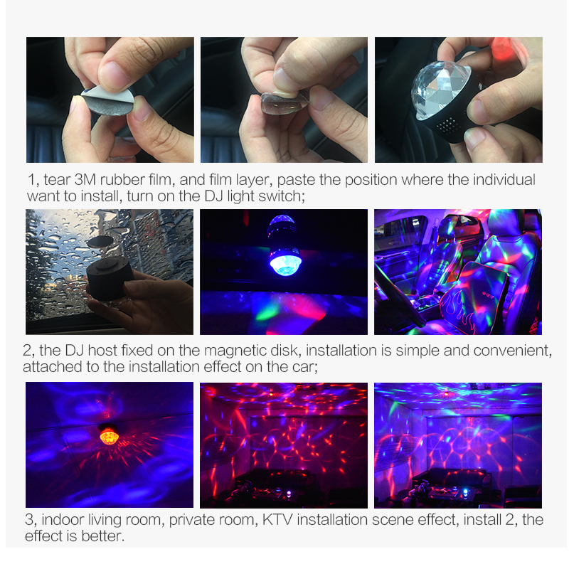 Flydee new product third dynasties portable D33-1 and D-33-2 DJ headlight LED light carry around in any where