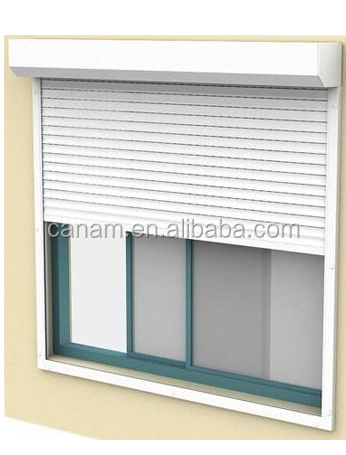 Aluminum profile PU thermal prevent rolling shutter window