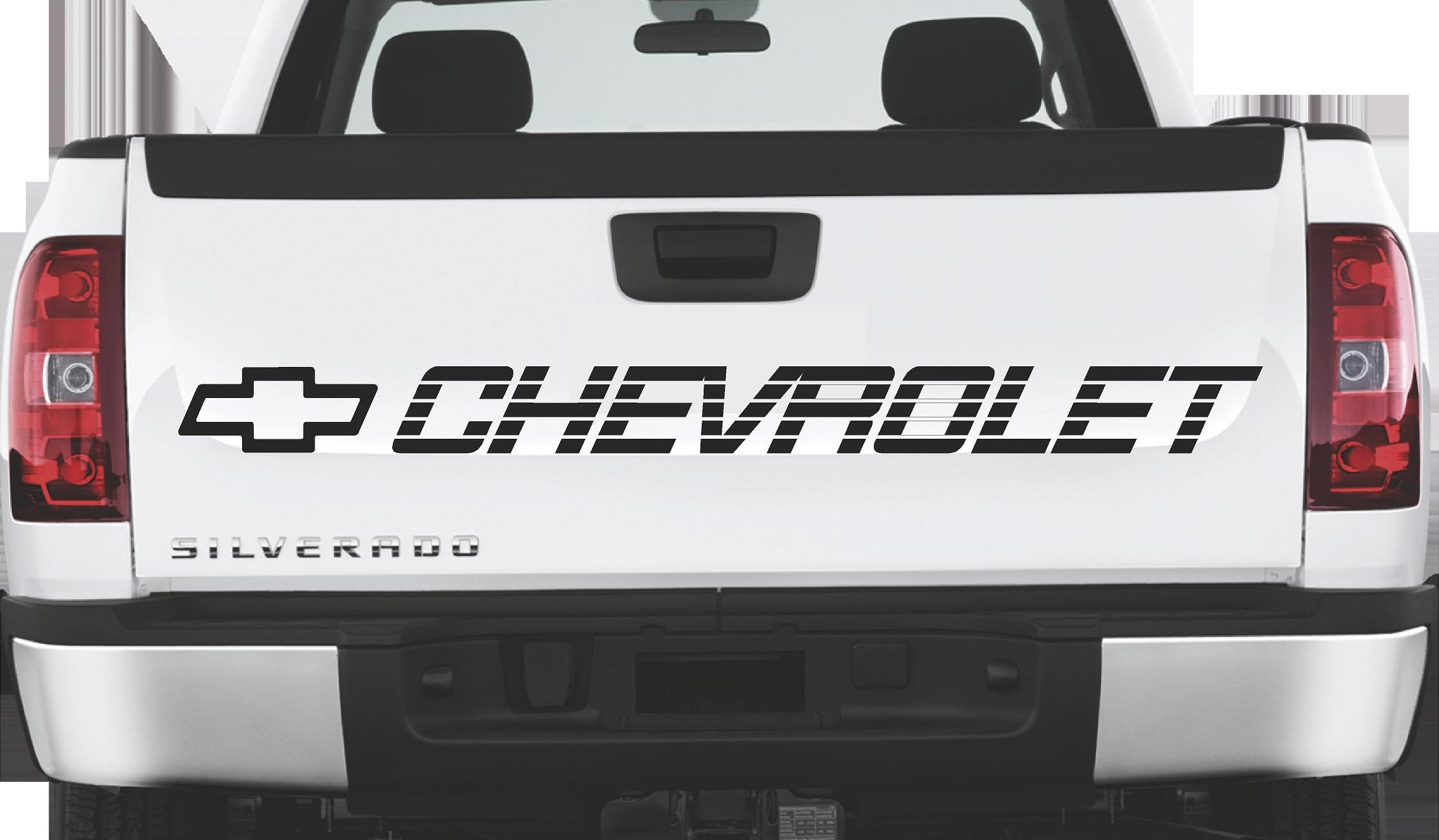Chevrolet Tailgate Bed Decal Sidebed Sticker Silverado Ss 1500 350 454 Lettering