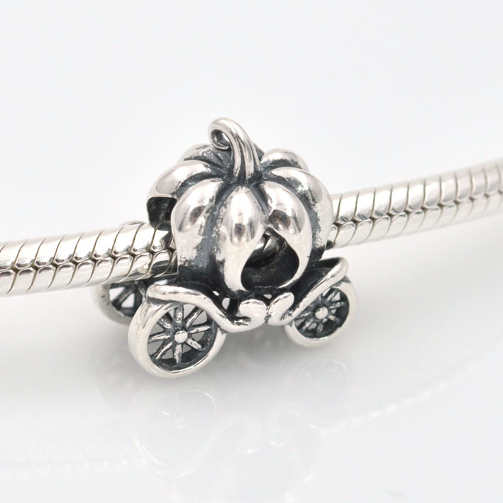Fit Pandora Charms Bracelet Authentic 925 Sterling Silver Original Bead Floating Pumpkin Women Charm DIY Jewelry
