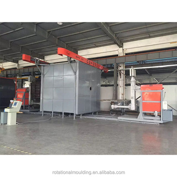 Rotational molding machine with chair mold