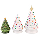 Newest custom ceramic desk christmas tree decoration for holiday