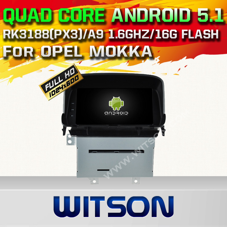 WITSON Android 5.1 CAR DVD PLAYER NAVIGATION For OPEL MOKKA WITH CHIPSET 1080P 16G ROM WIFI 3G INTERNET DVR SUPPORT