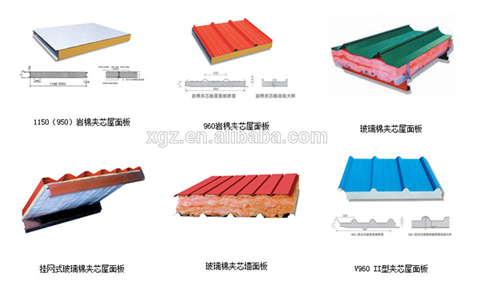 Rock wool/EPS sandwich panel used for steel structure