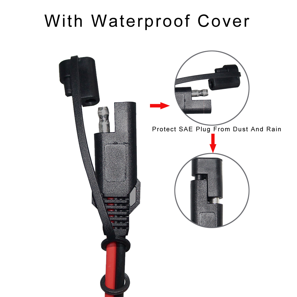 Low Voltage Plug 24v Power Cable Fiode Cobre Clamp Copper Connection Lead Black & Red Connected Clip 12v Battery Wire