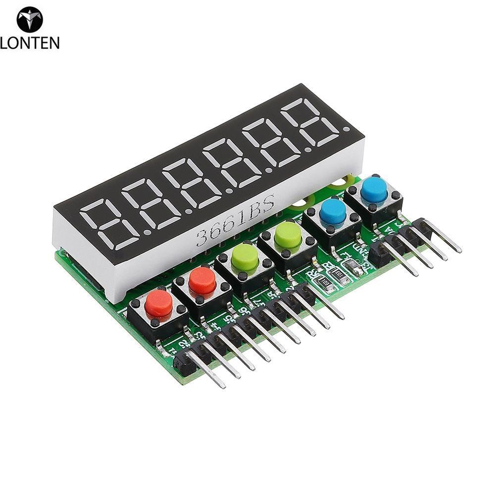 Lonten NEW TM1637 6-Bits Tube LED Display Key Scan Module DC 3.3V To 5V Digital IIC Interface For ard