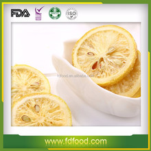 Healthy fruit tea snack freeze dried lemon slices