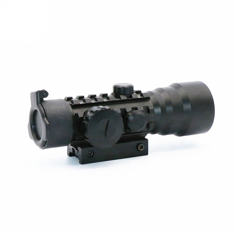 LUGER Red Dot Portata del fucile di Caccia 2X42 Red Dot Sight Scope con 11mm 20mm A Coda di Rondine Ferroviarie per Fucile All'aperto Pistola Ad Aria