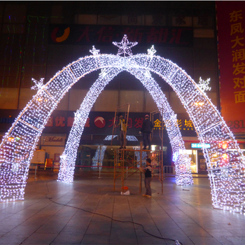 giant outdoor christmas lighting arches for shopping mall decoration