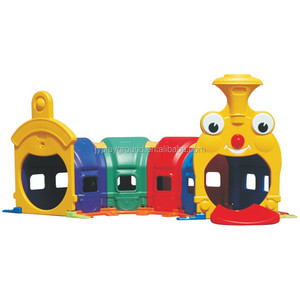 Indoor playground equipment with children play Plastic Caterpillar Tunnel toy game