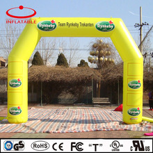 mini inflatable bicycle event entrance promotion arch with logo printing