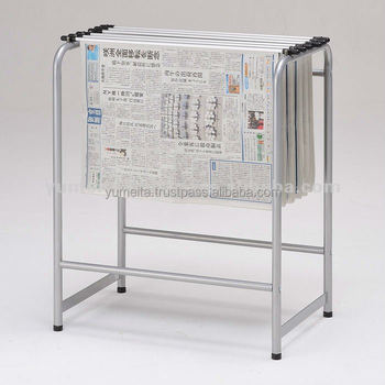 Japanese High-Quality Steel Tube Rack Simple Newspaper Holder Stand