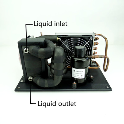 R134a mini marine kälte system kompressor verflüssigungs für tragbare chiller