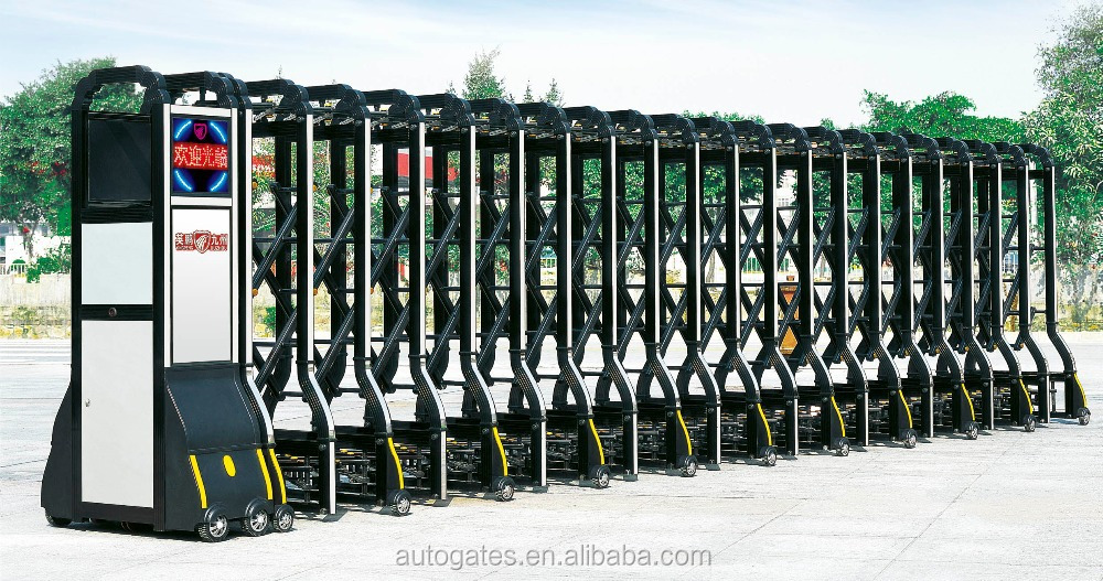Driveway Retractable Gate Boundary Wall Gate Design Iron Exterior Doors  Slide Gate Wheels