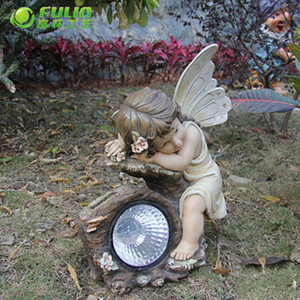 solar powered angel grave garden lights