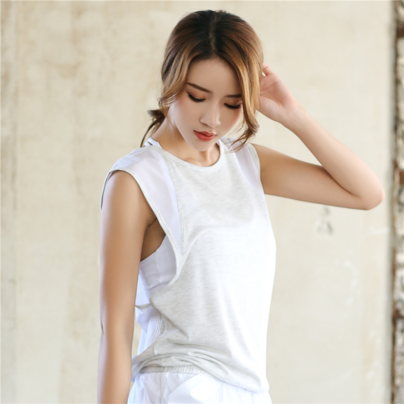 High Quality Yoga Gym Vest Sleeveless Shirts Sports Loose Tank Tops Gym Wear Women Running Workout Clothing