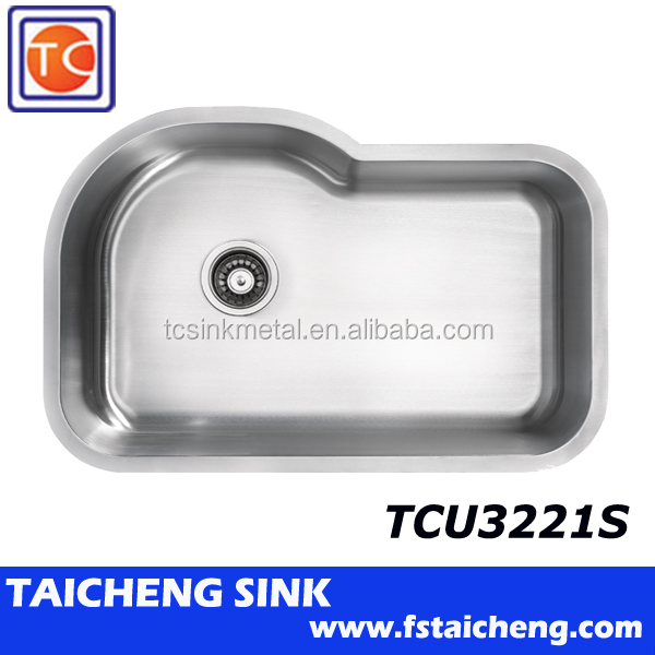"18 Gauge 31.7""x20.6""x9""Stainless Steel Undermount Kitchen Sink Single Bowl"