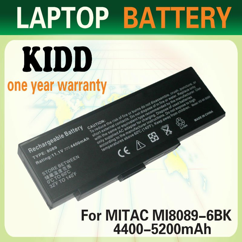 6 cells Replacement laptop battery for mitac Packard Bell Easy Note E1, E3, E5, E6, MIT-NYN0Z11.1v 4400mah