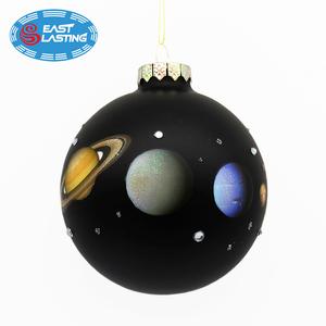 Black Christmas Balls.Personalized Stars Black Christmas Decor Glass Ornament Balls